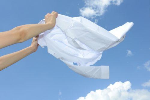 洗濯を干す